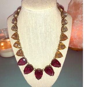 Collar necklace. Garnet, topaz stones
